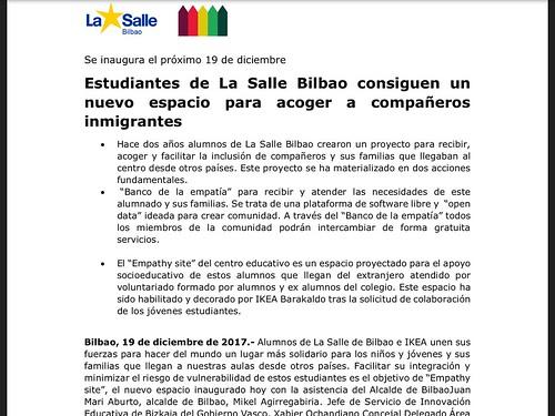 """Plataforma """"Empathy-site"""" de La Salle Bilbao"""