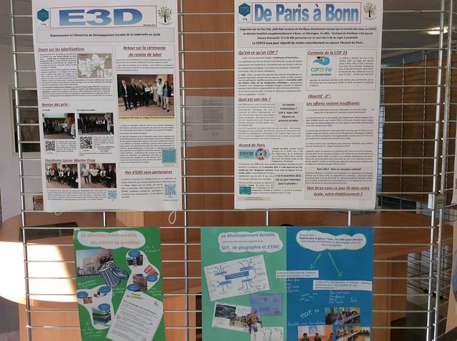 Du local au global: l'EDD dans l'académie à l'heure de la COP 23