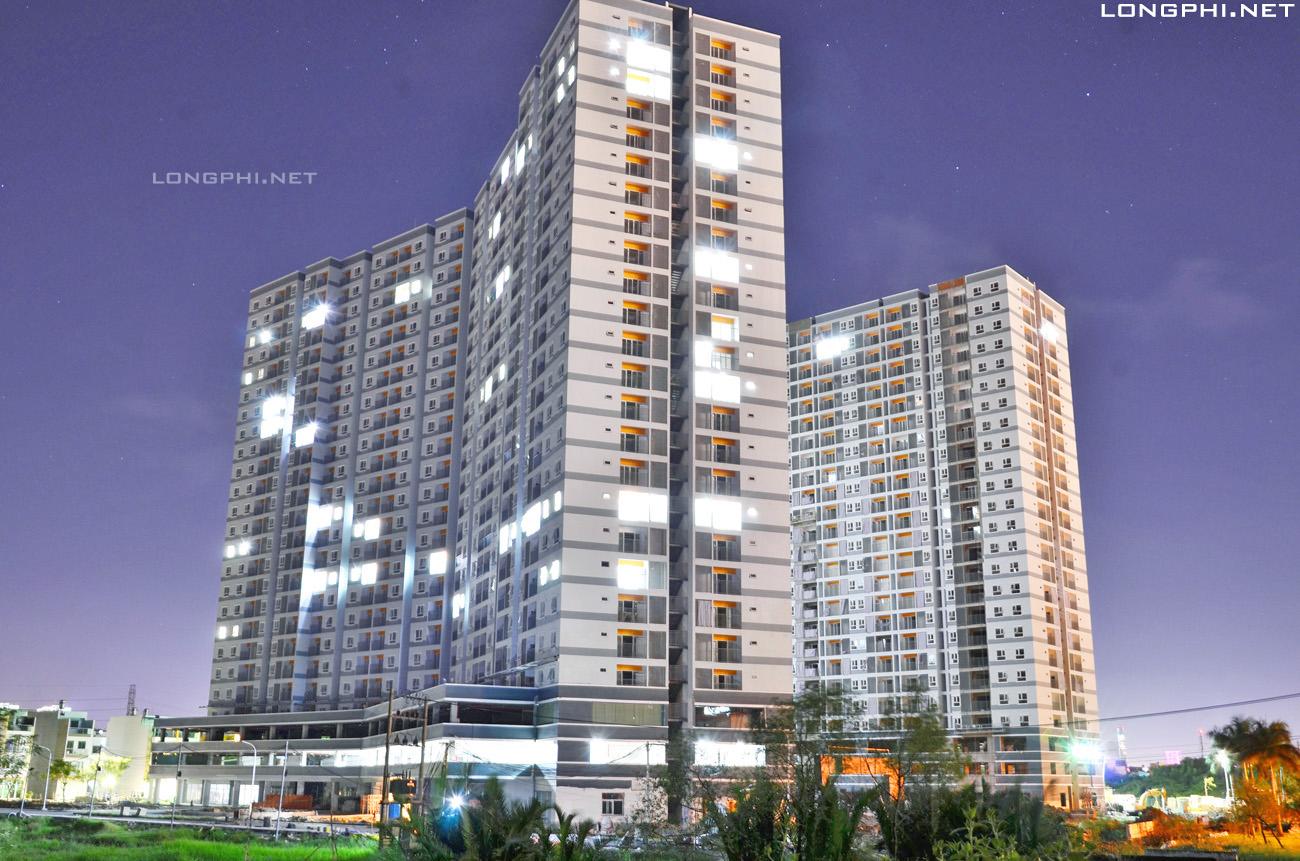 Tổng thể 2 tháp Jamona Apartment - Luxury Home quận 7, cập nhật ngày 15/11/2017.