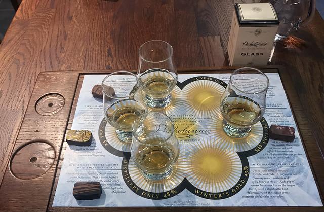 Whisky tasting at Dalwhinnie distillery, Scotland
