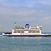 Isle of Wight car ferry St. Faith in the Solent, 4th August 1991