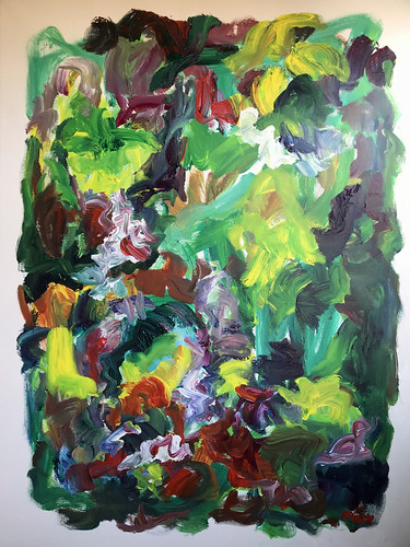 Susan Marx, 2017, In Green Fields, 48x36, acrylic on canvas