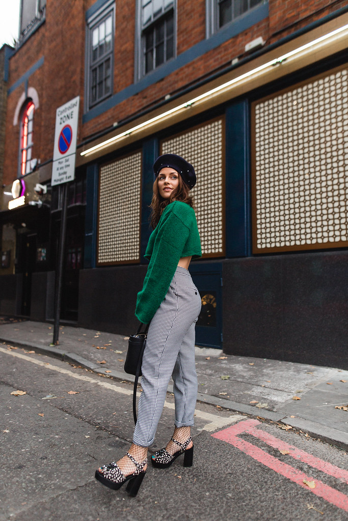 The Little Magpie Green Cropped Monki Jumper Shoreditch