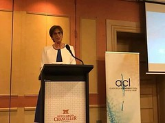 """Reposting from Lyle Shelton: Great to have Gabriele Kuby speaking at ACL's Launceston dinner. """"We need to say Yes to God but also yes to risk. It doesn't work without risk."""""""