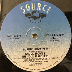 CHUCK BRWON & THE SOUL SERCHERS:BUSTIN' LOOSE(LABEL SIDE-A)