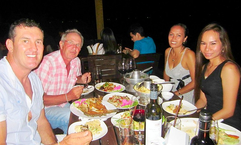 Pattaya Thailand beach side food wine