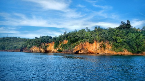 cliffs mountain landscape water sea carribean stlucia