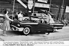 1958 Ford Thunderbird at T. Lyell Puckett, Alhambra CA