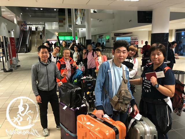 空港でPNGジャパンのスタッフさんに誘導されながら国内線に乗り換えです♪