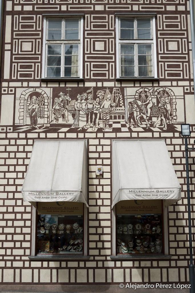 Fachada decorada en Gdansk