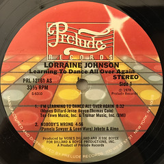 LORRAINE JOHNSON:LEARNING TO DANCE ALL OVER AGAIN(LABEL SIDE-A)