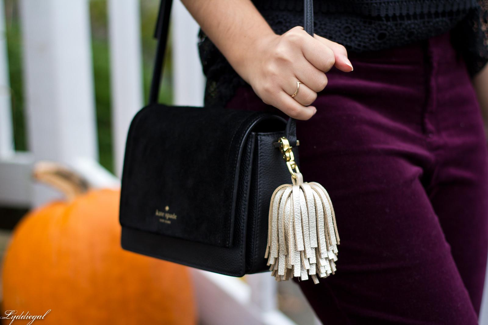black lace blouse, burgundy velvet pants, fall outfit.jpg
