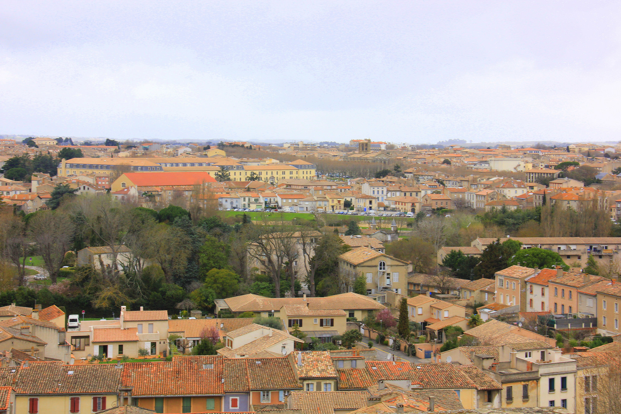 Beautiful views from Carcassonne Old Town