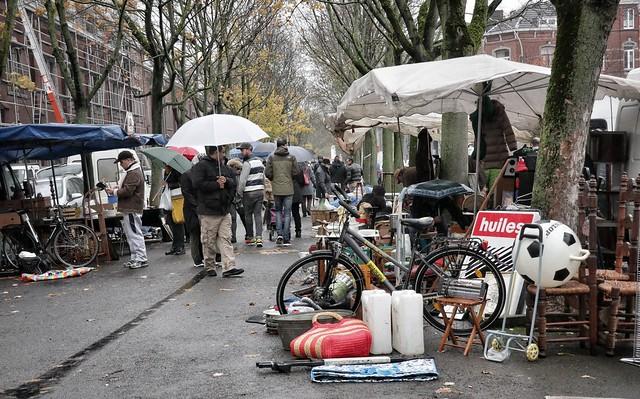 Rainy market, Liege