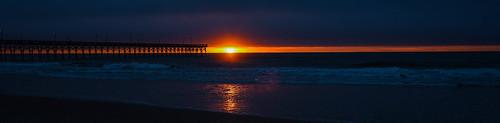 d750 nikon surfcity northcarolina beach sunrise sun sand pier waves shells