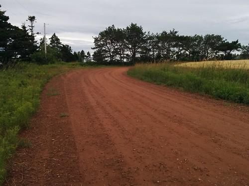 Red dirt road (2) #pei #princeedwardisland #belfast #campbuchan #redsoil #road #latergram