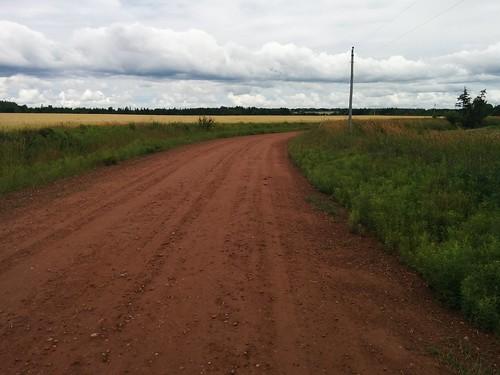 Red dirt road (1) #pei #princeedwardisland #belfast #campbuchan #redsoil #road #latergram