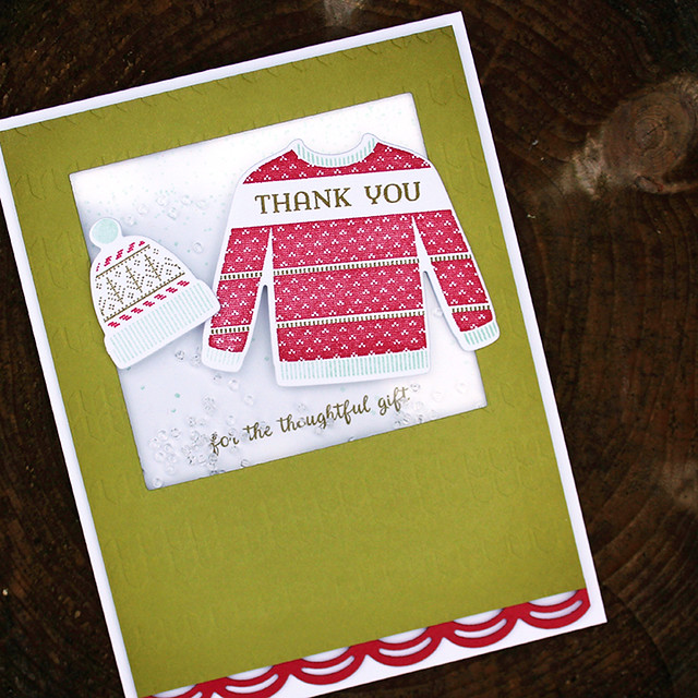 Christmas Thank You Shaker Card 4