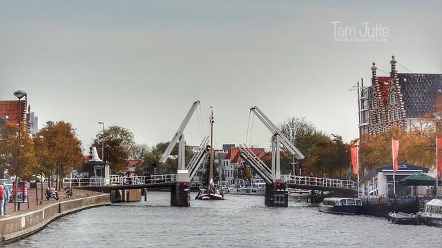 Gravestenenbrug, Binnen Spaarne, Haarlem, Netherlands - 5593