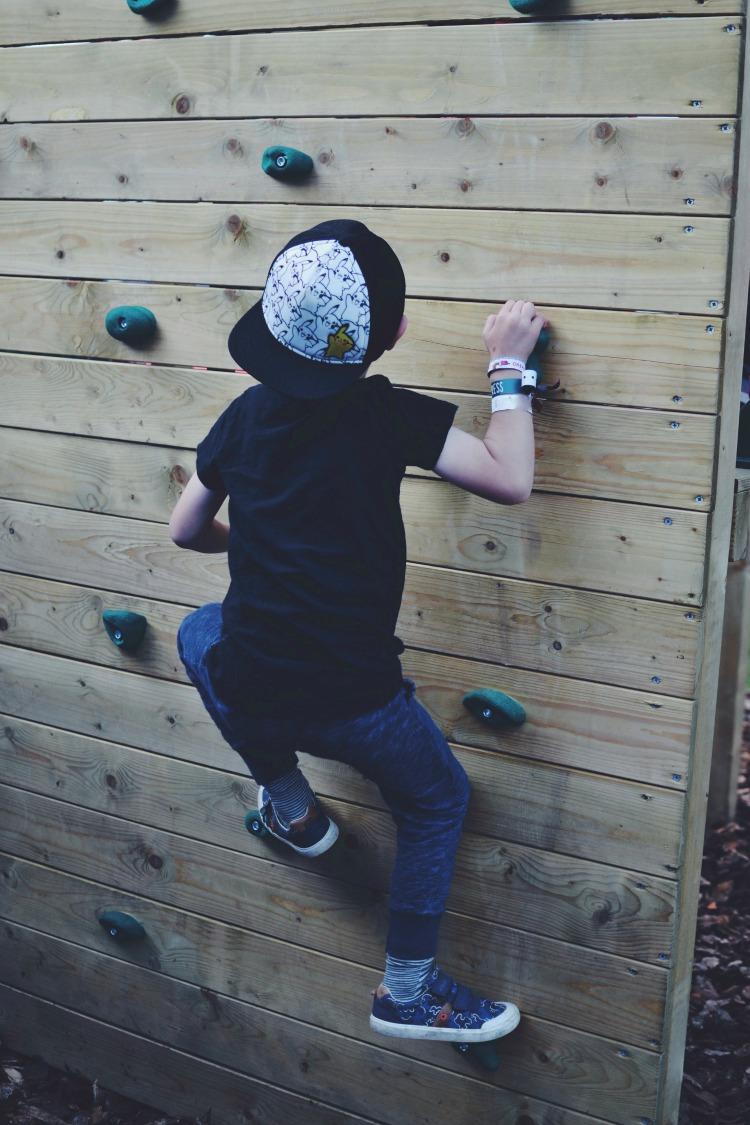 kids climbing high
