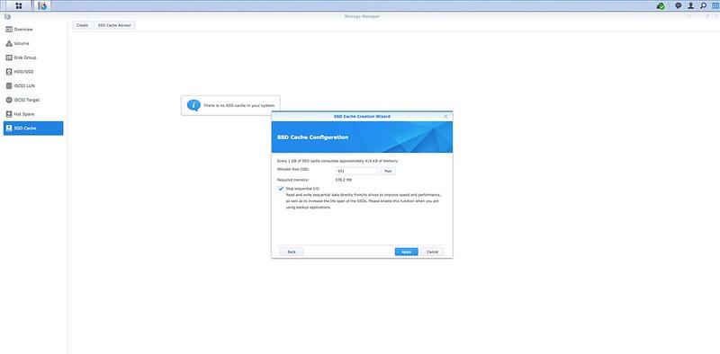 DSM - SSD Cache - Step #4