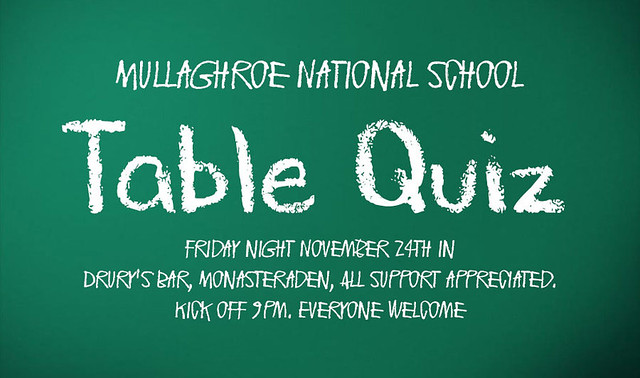 Mullaghroe table quiz