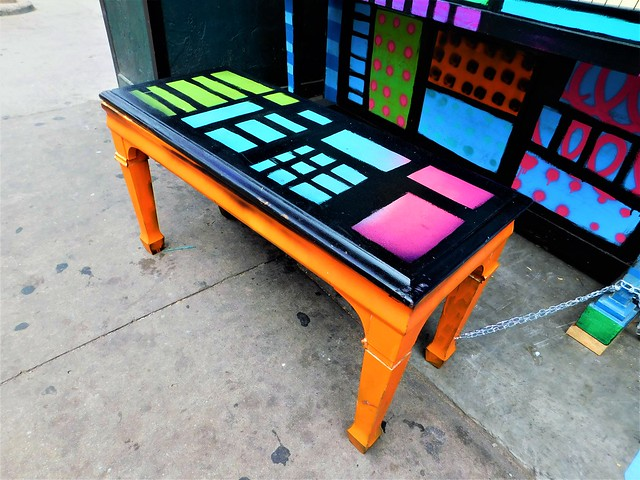 HAPPY COLORFUL PIANO BENCH MONDAY