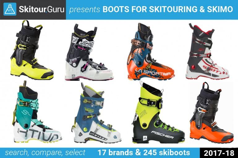 Lyžařské boty pro skitouring 17-18 podle značek