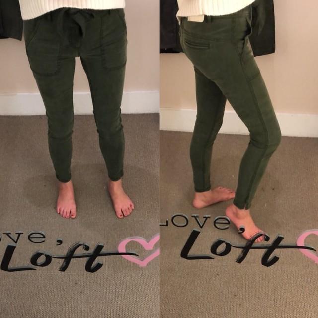 LOFT Skinny Tie Waist Pants, size 25/0P