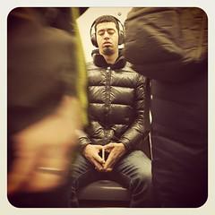 Monday night 2 train. #nycsubwayportraits #nyc #train #subway #metro #mta #publictransportation #commute #passenger #stranger #2train