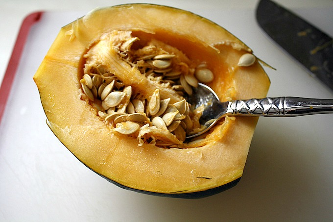 Roasted Spicy Maple Acorn Squash