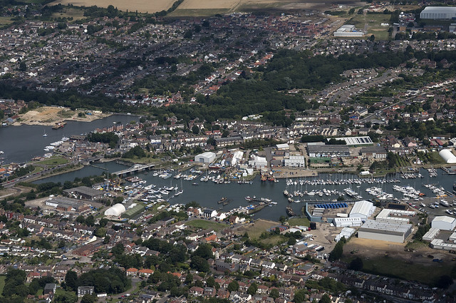 Lowestoft in Suffolk - aerial view