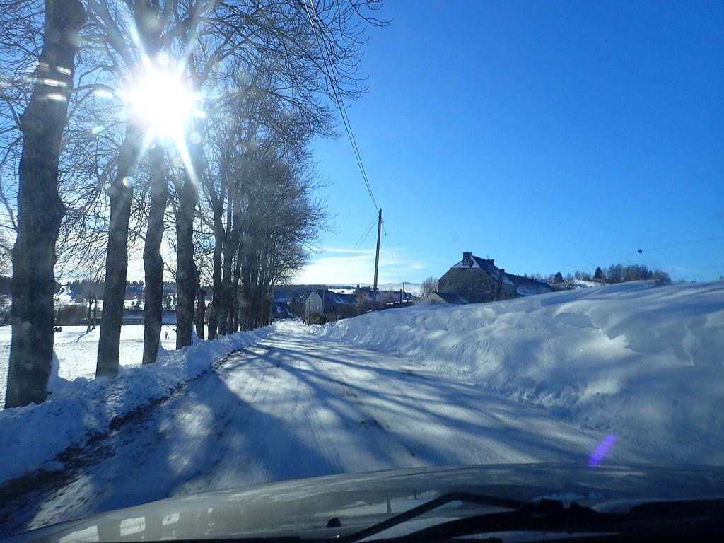 Première rando en forêt du Ché sous la neige