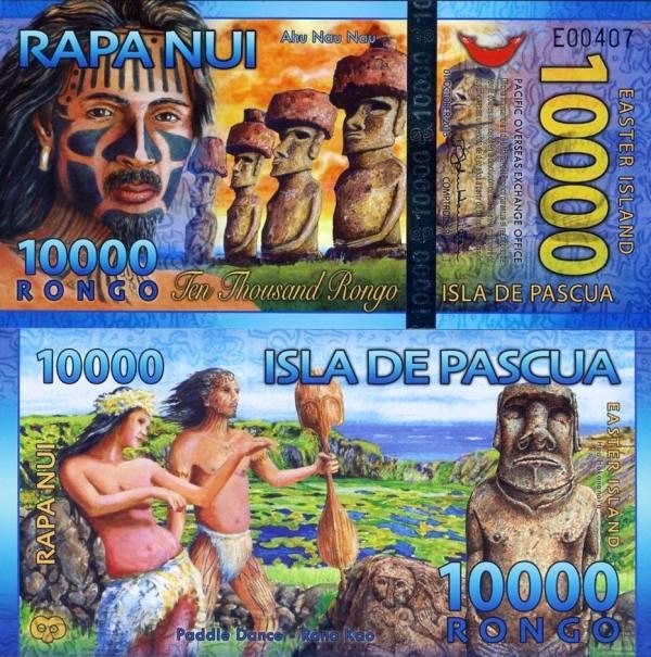 10 000 Rongo Veľkonočný ostrov 2013 polymer