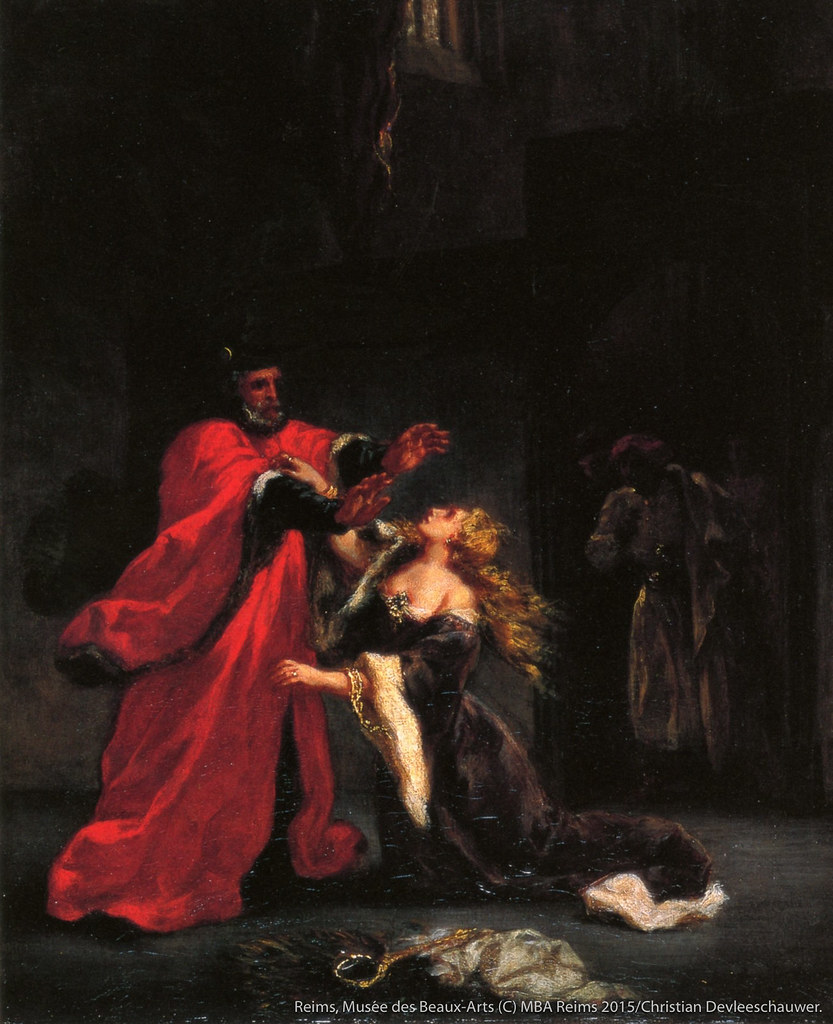 ウジェーヌ・ドラクロワの《父の呪詛を受けるデスデモーナ》