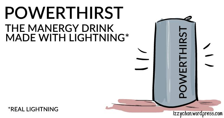 energy drink made with real lightning