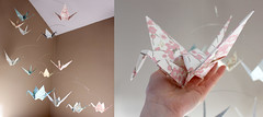 Extra Large Washi Paper Crane Mobile