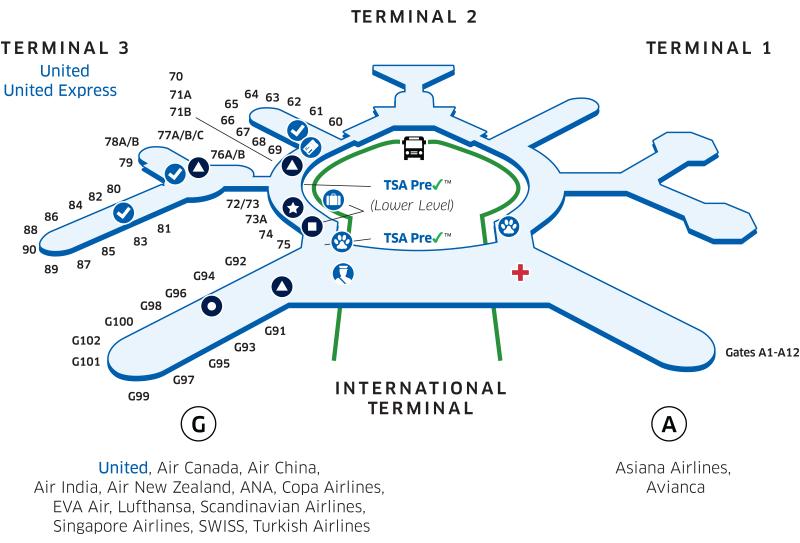 サンフランシスコ空港:ユナイテッドクラブ Ana Sfcでも利用可能 5star Traveler