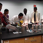 High School Students in Research Lab