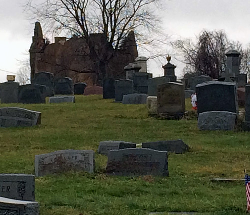 mountmoriah moriah philadelphia cemetery grave gatehouse ghost spooky ghostly grass green headstone