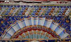 """Shell - Glass Mosaic of """"Triclinium"""" (dining-room) in the house of """"Neptune and Amphitrite"""" at Herculaneum, buried by Vesuvius' eruption on 79 AD"""