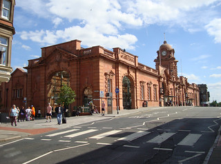 A composite image of Nottingham railway station