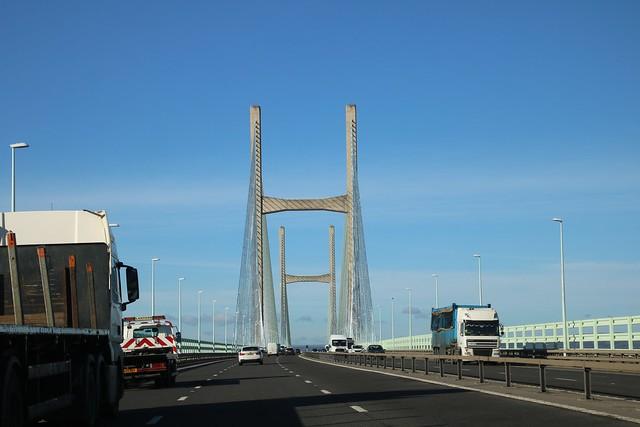 Crossing the SEVERN BRIDGE into Wales 20171108