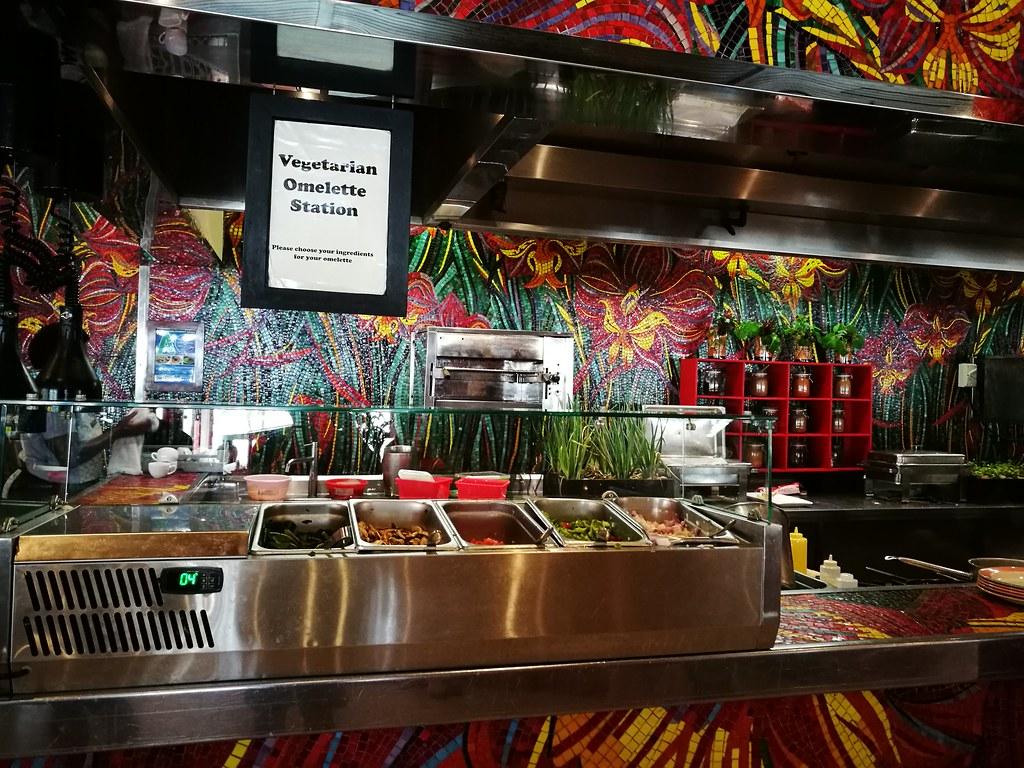 Vegetarian Omelette Station