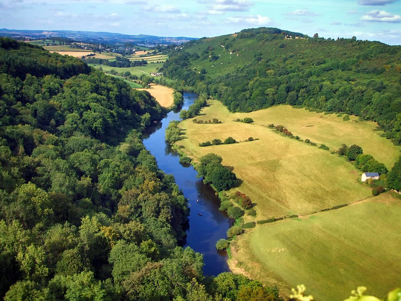 The view north towards Ross-on-Wye from Symonds Yat Rock, a popular tourist destination in the Forest of Dean. Credit Robert Hindle