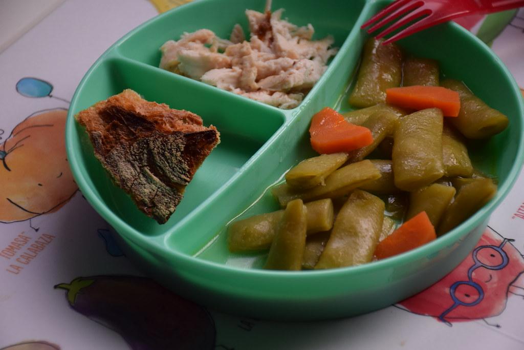 El plato dividido es muy práctico