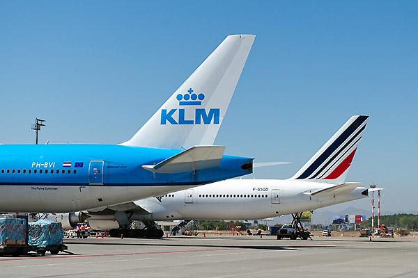 Air France KLM B777-300ER tails (KLM)