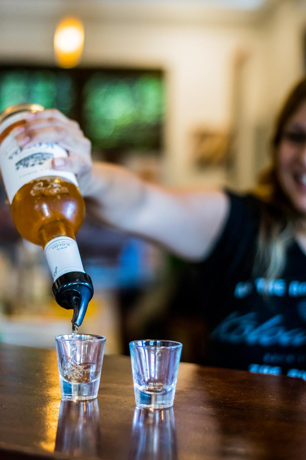 starting the taste test at Koloa Rum Company