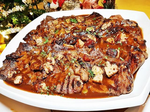 Grilled Tajima Wagyu Beef with Foie Gras Cubes