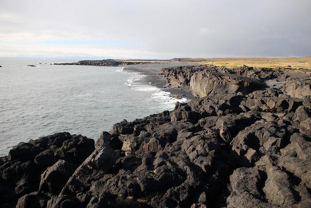 Lava cliffs at Malariff